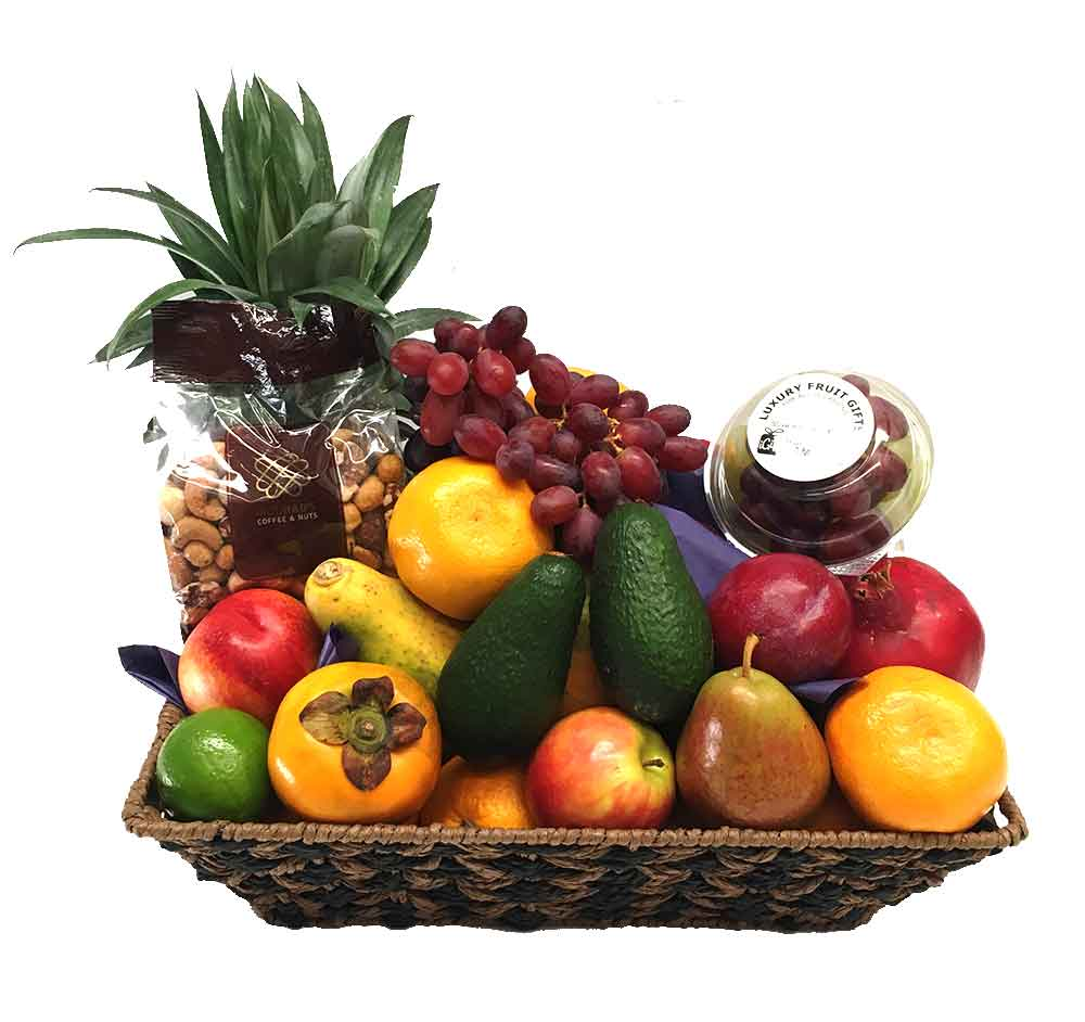 Luxury Fruit Basket + Gourmet Mixed Nuts