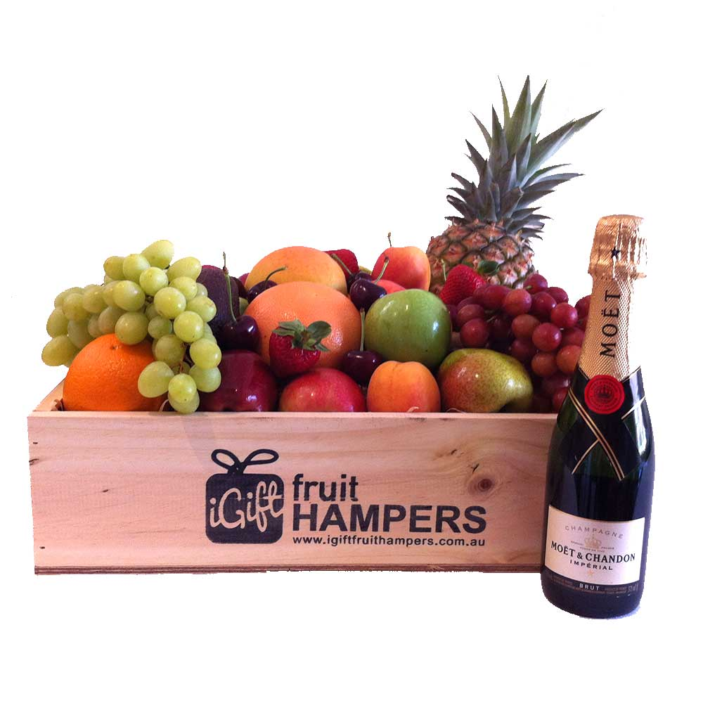 champagne fruit hampers