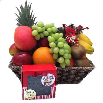 The Pudding Lady Christmas Cake Fruit Basket